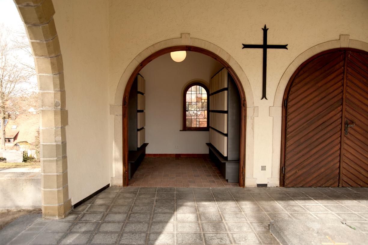 Urnenwand Kolumbarium K2 Friedhof Dagersheim Urnenwandmanufaktur Neher+Partner