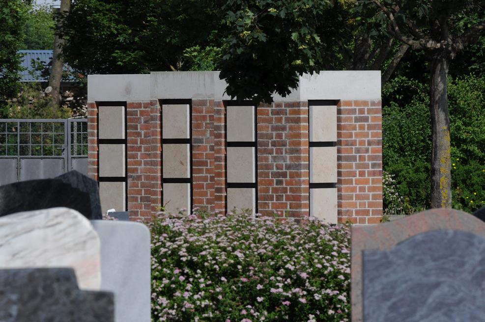 Urnenwand Kolumbarium K2 Friedhof Koenigsbrunn Urnenwandmanufaktur Neher+Partner